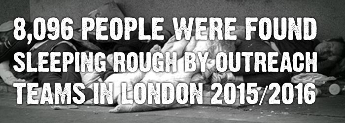 8,096 people were found sleeping rough by outreach teams in London