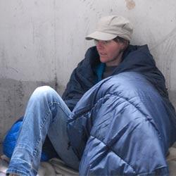 homeless woman london