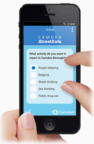Download the Camden StreetSafe app today!